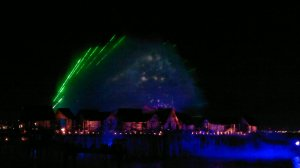 Songs of the Sea laser on splash of water performance. amazing.