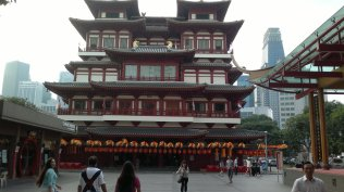 Chinatown, Singapore. Budha Tooth Relic Temple (if i'm not mistaken)