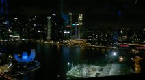 Marina Bay and around (Singapore). taken from Singapore Flyer at night.