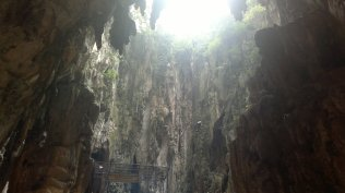 inside of Batu Caves, Malaysia. kewl natural caves with some Hindu temples. a lot of Indian come to Batu Caves to pray at those temples.