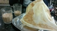 Roti Tissue and Teh Tarik (Malaysia). Roti Tissue is one variant from roti canai (roti prata). crispy and sweet. Teh Tarik is basically tea and milk. delicious :9