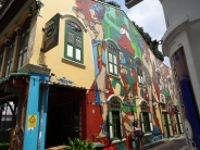 graffiti on Haji Lane, Singapore. one shopping sector. if you go there at Friday, around 12 pm the shops will be closed due to Friday Prayer (Sholat Jumat).
